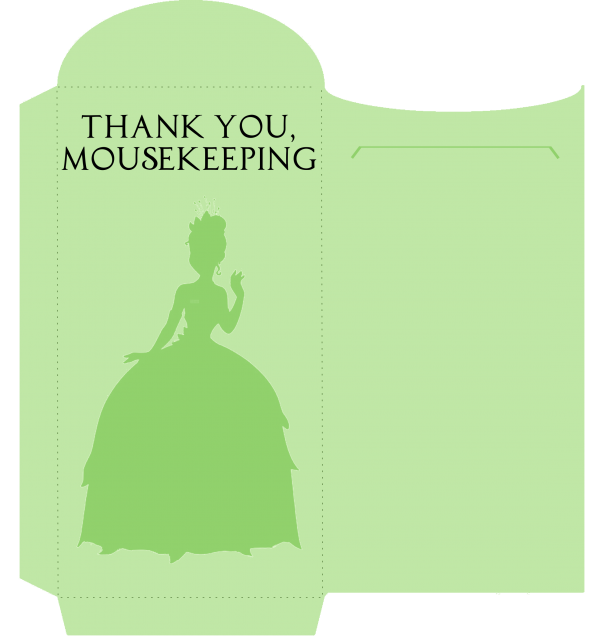 Printable, customizable (and cute!) Mousekeeping money envelopes from WDWPrepSchool.com