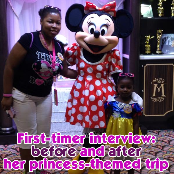 First timer   before and after her princess themed trip   PREP040 from WDWPrepSchool.com
