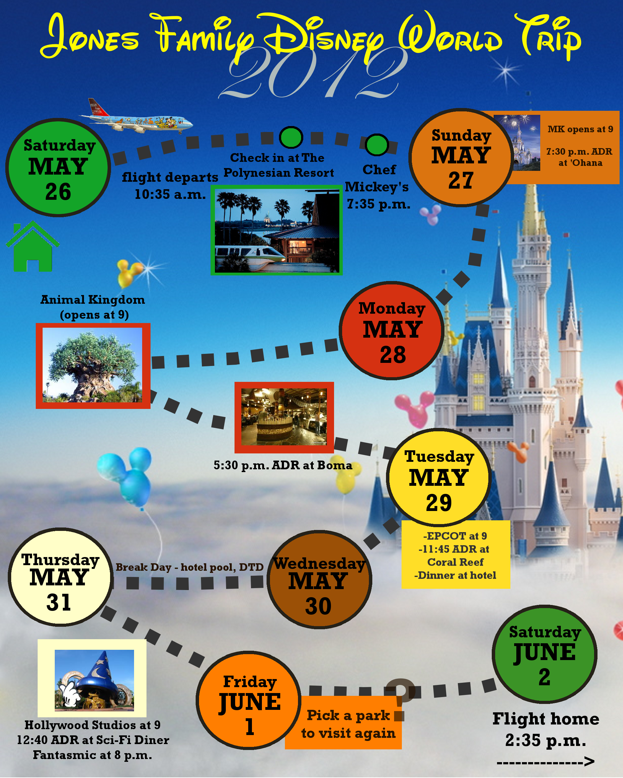 2 custom disney world itinerary templates wdw prep school for Itenary template